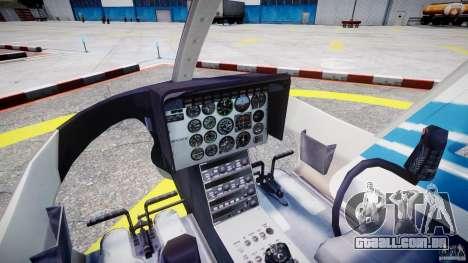 Bell 206 B - Chicago Police Helicopter para GTA 4 vista direita