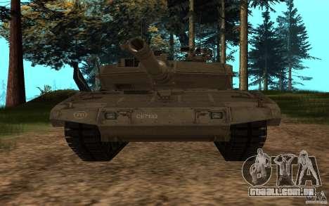 Leopard 2a7 para GTA San Andreas vista traseira