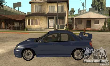 Subaru Impreza WRX STi - Stock para GTA San Andreas esquerda vista