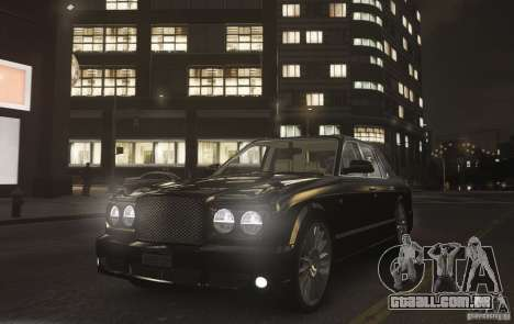 Bentley Arnage T v 2.0 para GTA 4 vista direita