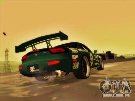 Mazda RX7 rEACT para GTA San Andreas vista inferior
