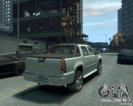 Chevrolet Avalanche Version Pack 1.0 para GTA 4 traseira esquerda vista