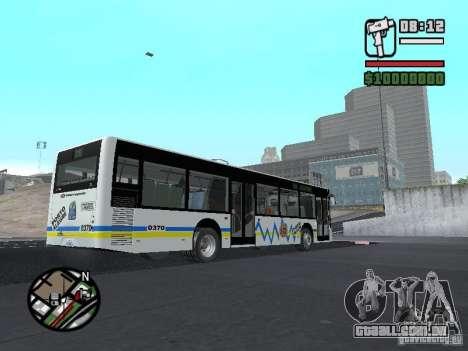 Onibus para GTA San Andreas vista interior