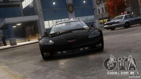 Chevrolet Corvette LCPD Pursuit Unit para GTA 4 traseira esquerda vista