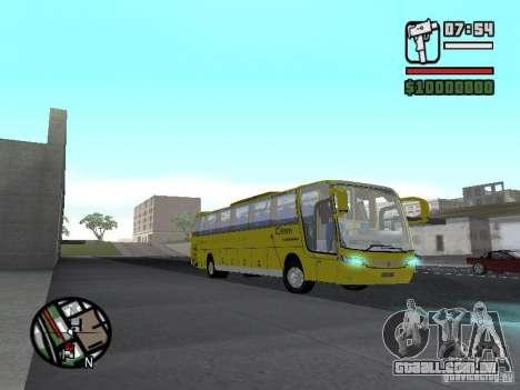 Busscar Vissta Bus para GTA San Andreas vista traseira