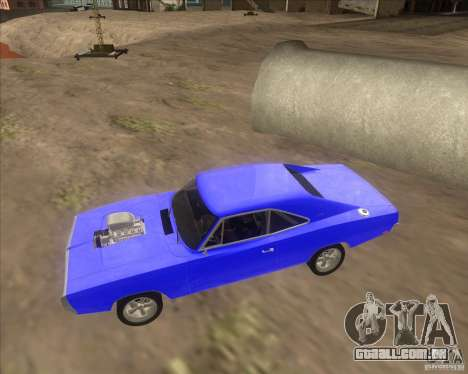 Dodge Charger RT 1970 The Fast and The Furious para GTA San Andreas vista traseira