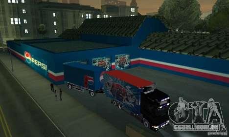 Pepsi Market and Pepsi Truck para GTA San Andreas terceira tela