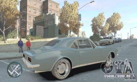 Chevrolet Camaro SS 1969 para GTA 4 esquerda vista