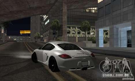 Porsche Cayman R para GTA San Andreas esquerda vista