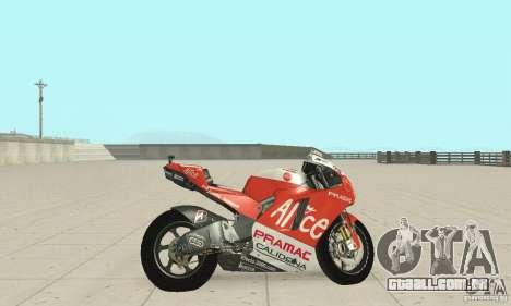 Ducati Alice GP para GTA San Andreas traseira esquerda vista