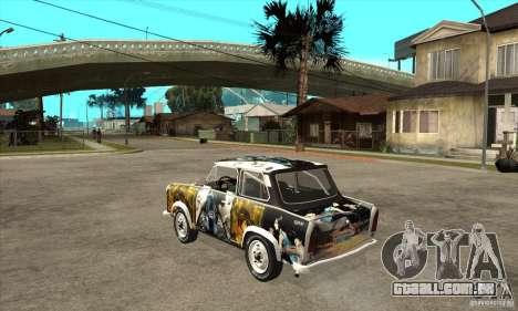 Trabant 601 Custom para GTA San Andreas traseira esquerda vista