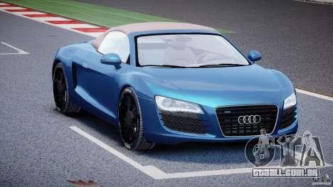 Audi R8 Spyder v2 2010 para GTA 4