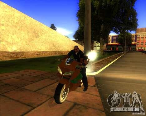 Honda CBR 600RR evo 2005 para GTA San Andreas vista traseira