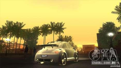 Volkswagen Beetle Tuning para GTA San Andreas vista interior