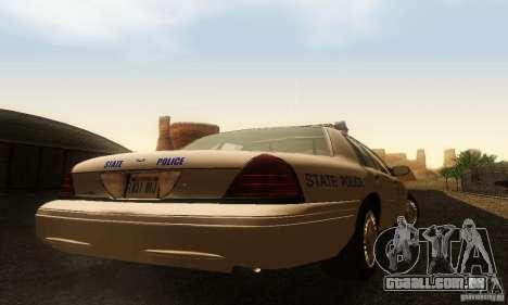 Ford Crown Victoria Rhode Island Police para GTA San Andreas esquerda vista