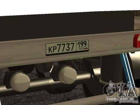 Doze-roda semi-reboque-basculante TONAR 95231 para GTA San Andreas vista direita