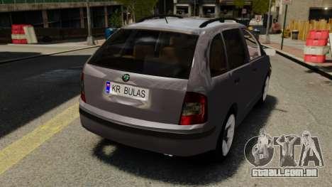 Skoda Fabia Combi para GTA 4 vista de volta