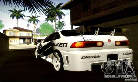 Acura Integra Type R para GTA San Andreas vista traseira