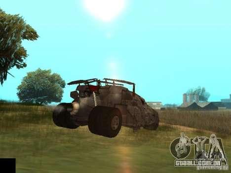 Batman Car para GTA San Andreas vista traseira