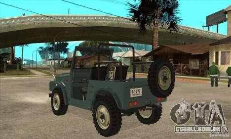 Suzuki Jimny para GTA San Andreas traseira esquerda vista
