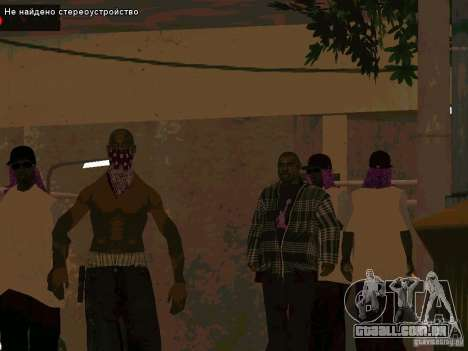 Novo Ballas East side Purpz para GTA San Andreas segunda tela