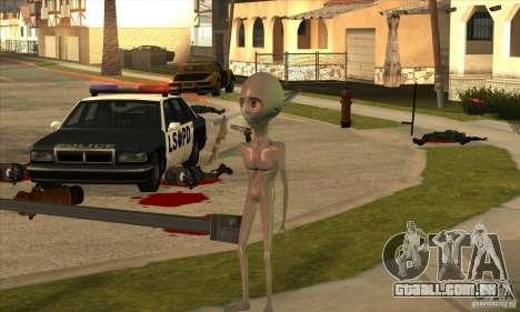 Alien para GTA San Andreas sexta tela