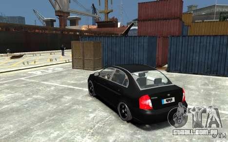 Hyundai Accent 2006 para GTA 4 traseira esquerda vista