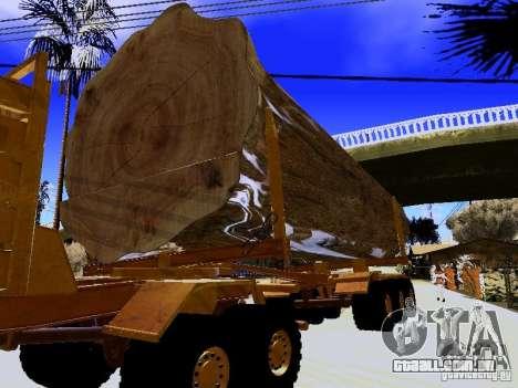 Trailer de Hayes EQ 142 para GTA San Andreas vista traseira