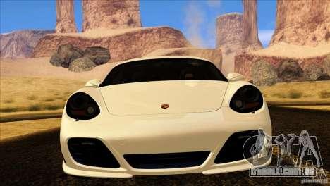Porsche Cayman R 987 2011 V1.0 para vista lateral GTA San Andreas