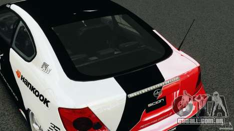 Scion TC Fredric Aasbo Team NFS para GTA 4 vista lateral
