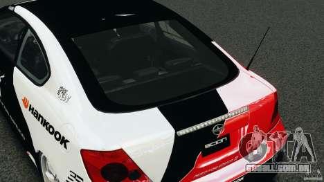 Scion TC Fredric Aasbo Team NFS para GTA 4 vista lateral