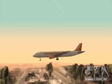 Airbus A320-214 EasyJet para vista lateral GTA San Andreas