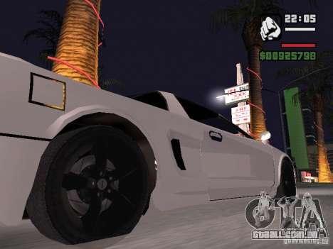 Infernus - beta - v.1 para GTA San Andreas traseira esquerda vista