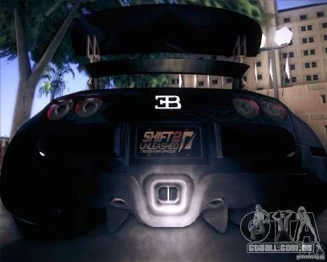 Bugatti Veyron Super Sport para GTA San Andreas vista superior