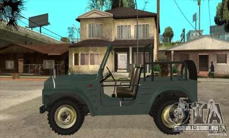 Suzuki Jimny para GTA San Andreas esquerda vista
