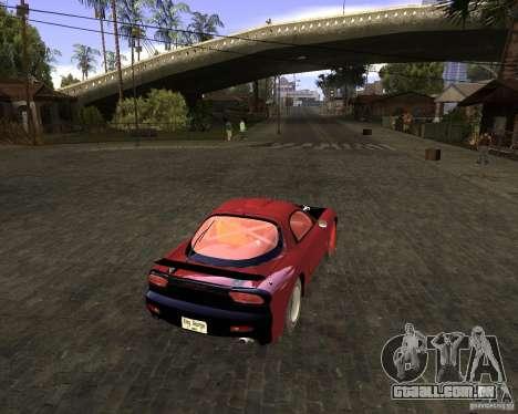 Mazda RX-7 Drifter para GTA San Andreas traseira esquerda vista