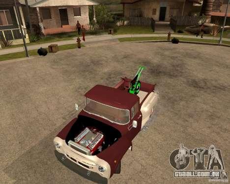 ZIL 130 Tempe ardente Final para GTA San Andreas vista traseira