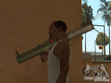LAW Rocket launcher para GTA San Andreas por diante tela