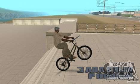 Trial bike para GTA San Andreas vista direita