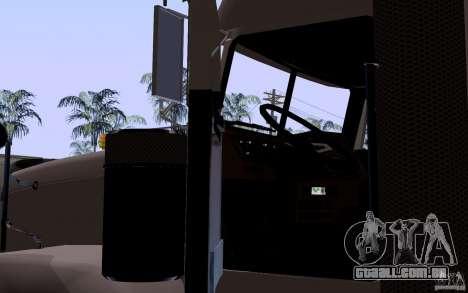 Freightliner SD 120 para GTA San Andreas vista interior