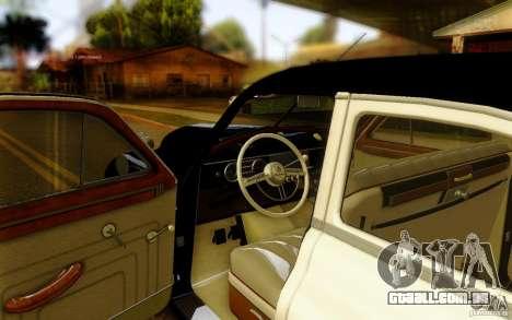 Packard Touring Police para GTA San Andreas vista direita