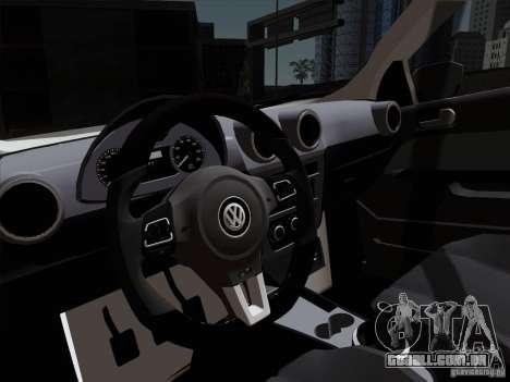 Volkswagen Golf G6 v3 para GTA San Andreas vista traseira