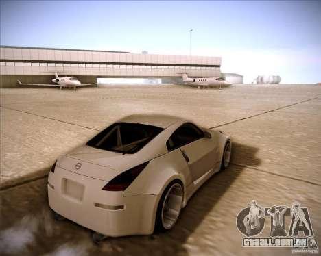 Nissan 350Z AdHoc para GTA San Andreas esquerda vista