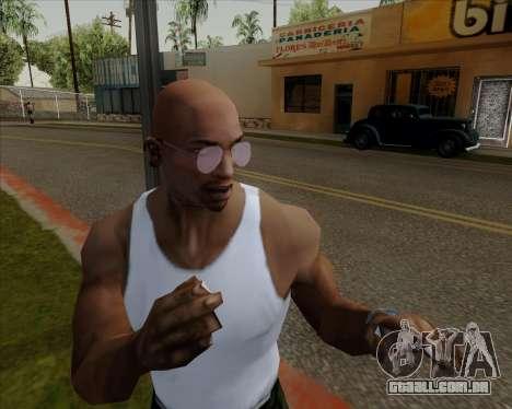 Óculos de aviador rosa para GTA San Andreas quinto tela