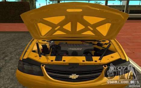 Chevrolet Impala Taxi 2003 para GTA San Andreas vista direita