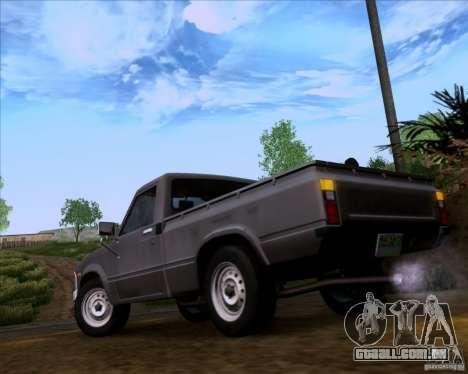 Toyota Truck RN30 para GTA San Andreas traseira esquerda vista