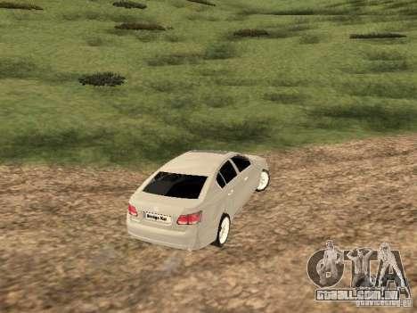 Lexus GS-350 para GTA San Andreas vista direita