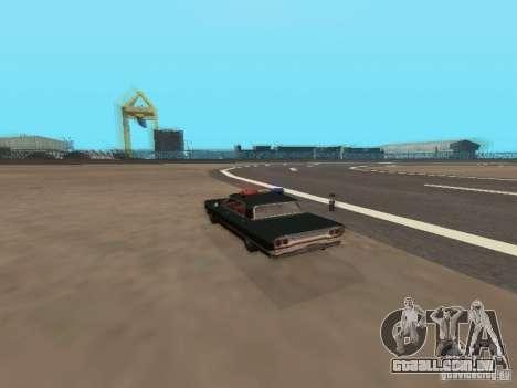 Police Savanna para GTA San Andreas vista traseira