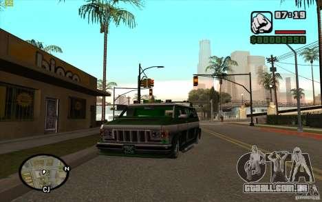 Grove Street Gang Burrito para GTA San Andreas esquerda vista