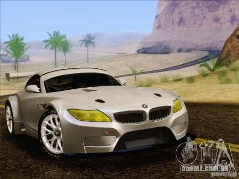 BMW Z4 E89 GT3 2010 Final para GTA San Andreas traseira esquerda vista